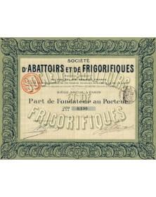 Sté d'Abattoirs et de Frigorifiques