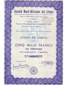 Sté Nord-Africaine des Lièges