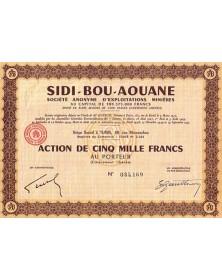 Sidi-Bou-Aouane -Sté d' Expl. Minières