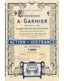 S.A. des Ets A. Garnier. Exposition de 1900. La plus haute récompense