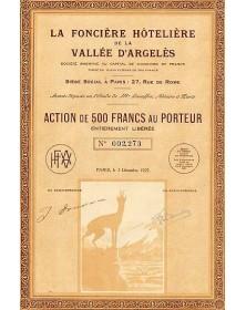 La Foncière Hôtelière de la Vallée d'Argelès