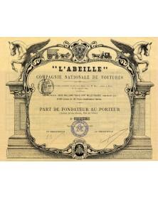 ''L'Abeille'' - Cie Nationale de Voitures
