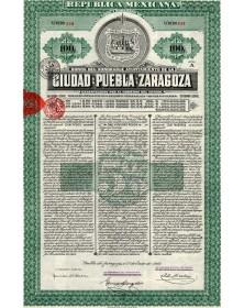 Ciudad de Puebla de Zaragoza, Republica Mexicana. 1910