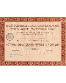 Sté Centrale de la Parfumerie Française''Oriza-L.LEGRAND'' - ''Les Parfums de Rosine''