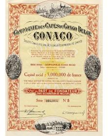 Cie des Cafés du Congo Belge CONACO