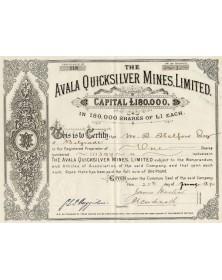 The Avala Quicksilver Mines, Ltd