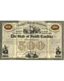 The State of South Carolina - 6% Consolidated Bond 500$