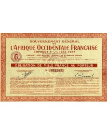 Gouvernement Général de l'Afrique Occidentale Française-Emprunt 5 1/2% 1933-1957