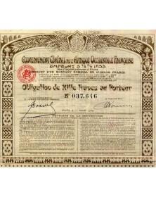 Gouvernement Général de l'Afrique Occidentale Française-Emprunt 5 1/2 % 1933