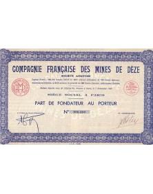 Cie Française des Mines de Dèze