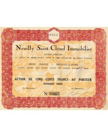 Neuilly Saint-Cloud Immobilier S.A.