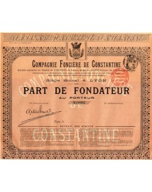Cie Foncière de Constantine