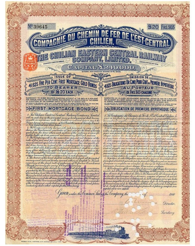 The Chilian Eastern Central Railway Company