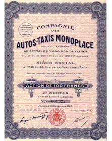 Cie des Autos-Taxis Monoplaces