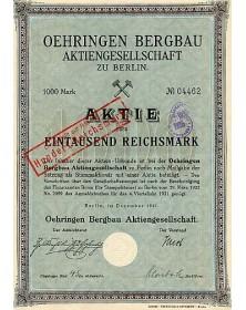 Oehringen Bergbau Aktiengesellschaft zu Berlin