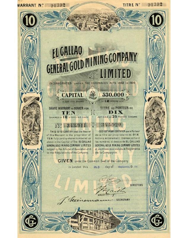 El Callao General Gold Mining Company Ltd. 1906