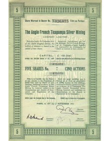 Anglo French Ticapampa Silver Mining