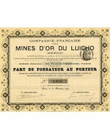 Cie Française des Mines d'Or du Luicho