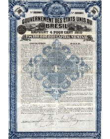 United States of Brazil - 4% 1910 loan