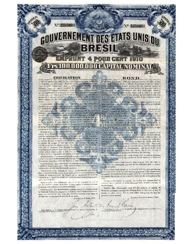 United States of Brazil - 4% 1910 loan