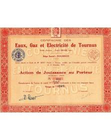 Cie des Eaux, Gaz et Electricicté de Tournus