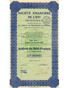 Sté Financière de l'Est (Sofinest)