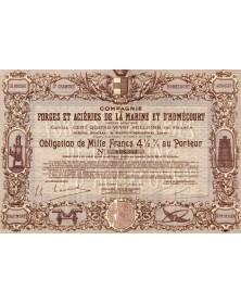 Cie des Forges et Aciéries de la Marine et d'Homécourt Rhône-Alpes/Loire 42