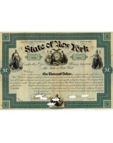 State of New York - 7% Bounty Bond 1866