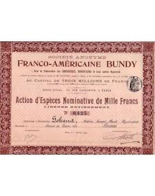 S.A. Franco-Américaine Bundy pour la Fabrication des Chaudières et Radiateurs