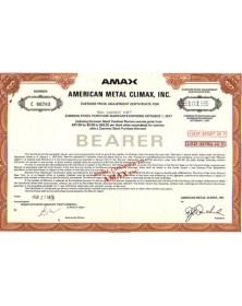 AMAX - American Metal Climax Inc.