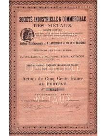 Sté Industrielle & Commerciale des Métaux, Anciens Ets J.J. Laveissière et fils et E. Secrétan