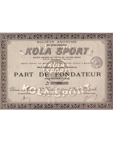 S.A. des Ets Kola Sport, Provence French Riviera/Marseille