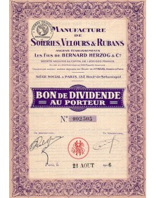 Manufacture de Soieries, Velours & Rubans