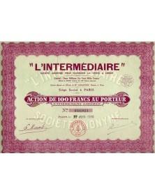 'L'Intermédiaire'' pour favoriser la Vente à Crédit