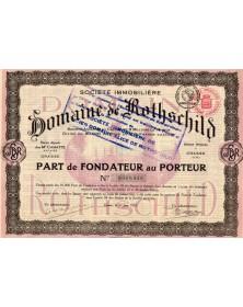 Sté Immobilière du Domaine de Rothschild