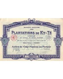 Sté Anonyme des Plantations de Ky-Té (Kontum)
