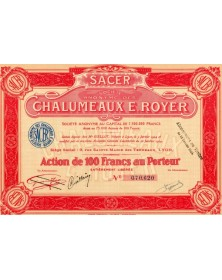 SACER S.A. des Chalumeaux E.Royer