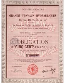 S.A. de Grands Travaux Hydrauliques Joya, Bergès & Cie