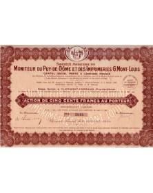 S.A. du Moniteur du Puy-de-Dôme et des Imprimeries G. Mont-Louis