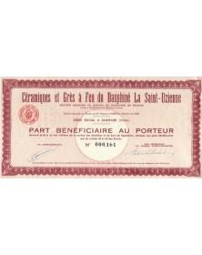 Céramiques et Grès à Feu du Dauphiné La Saint-Uzienne