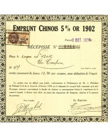 Emprunt Chinois 5% Or 1902