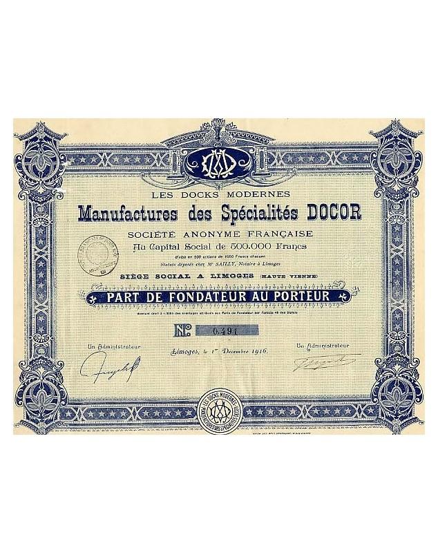Manufacture des Spécialités Docor
