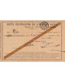 Dette Extérieure de l'Etat de Bahia 5% 1915