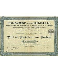 Ets Albert Pillivuyt & Fils (Foecy, Cher et Limoges)