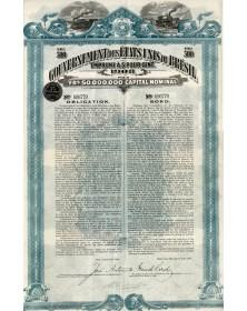 Gouvernement des Etats Unis du Brésil - Emprunt 5% 1908, United States of Brazil - 5% 1908 Loan