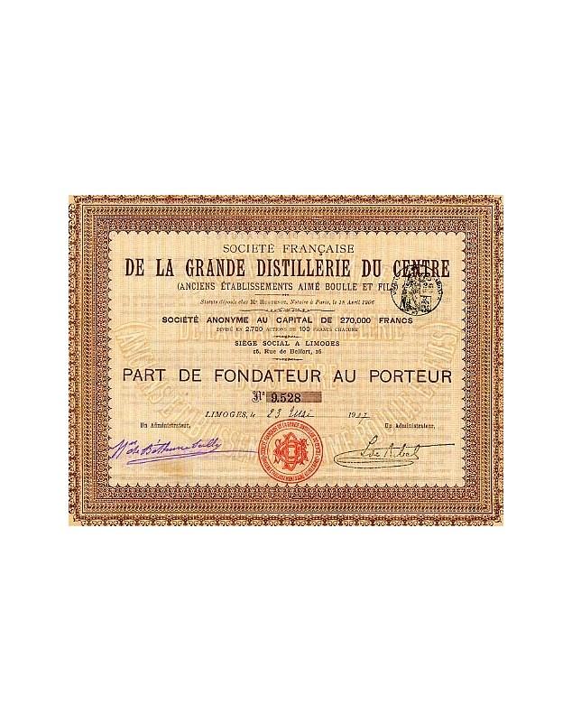 Sté Française de la Grande Distillerie du Centre (Anciens Ets Aimé Boulle et Fils)
