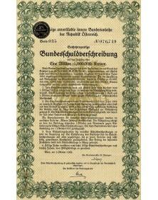 Emprunt d'Etat 6% de la République d'Autriche