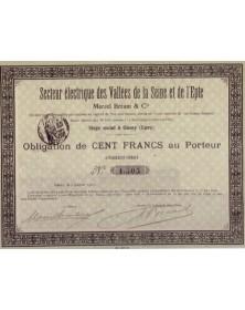 Secteur Electrique des Vallées de la Seine et de l'Epte. Marcel Bréant & Cie