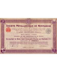 Sté Métallurgique de Normandie