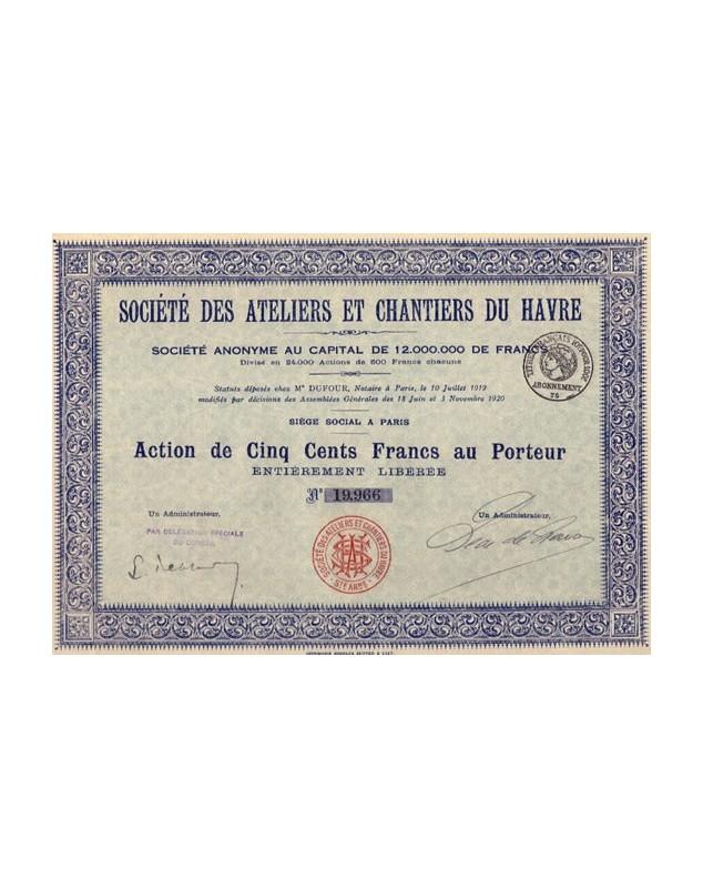 Sté des Ateliers et Chantiers du Havre